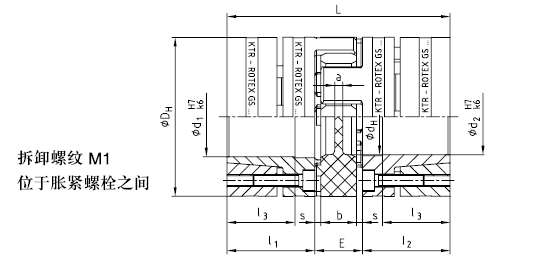 KTR ROTEX-GS 胀紧式轴套联轴器